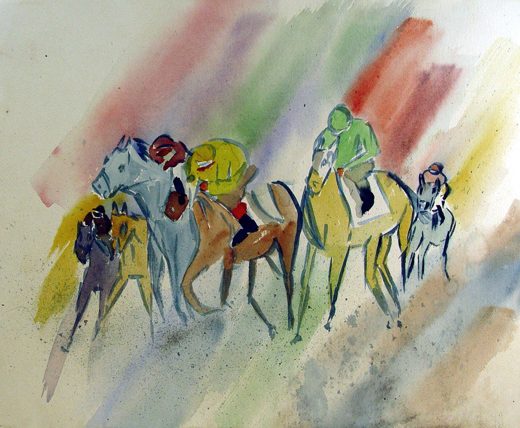 Modernist Rainbow Horse Race