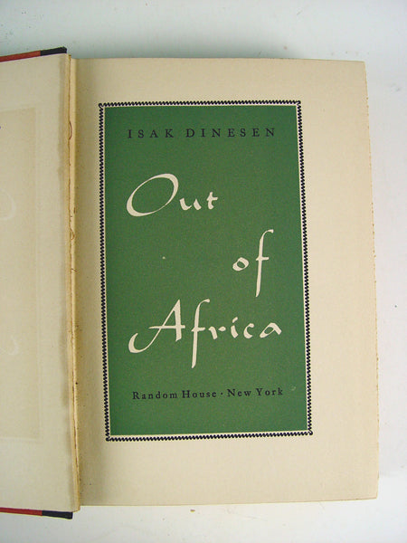 Out of Africa, 1st Ed