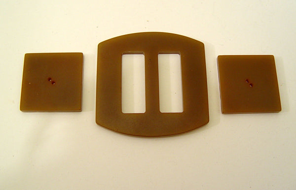 Vintage Bakelite Buckle & Buttons Set