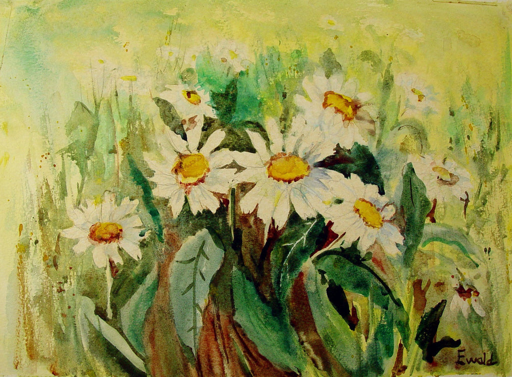 Field of Daisies Watercolor
