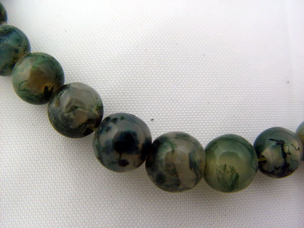 Moss Agate Beaded Necklace