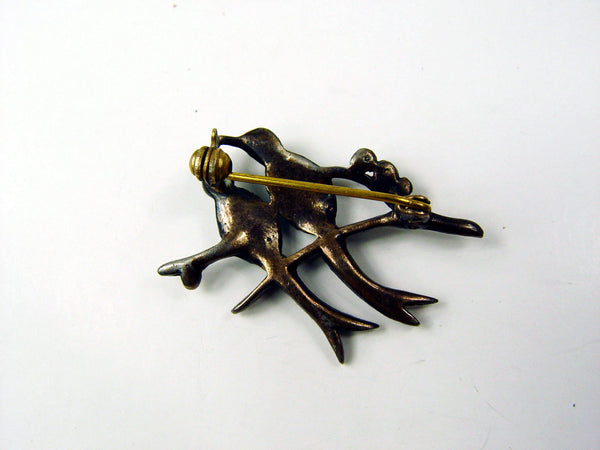 Vintage Love Birds Brooch
