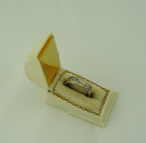 Vintage Silver Sweetheart Ring From Manila w/Box