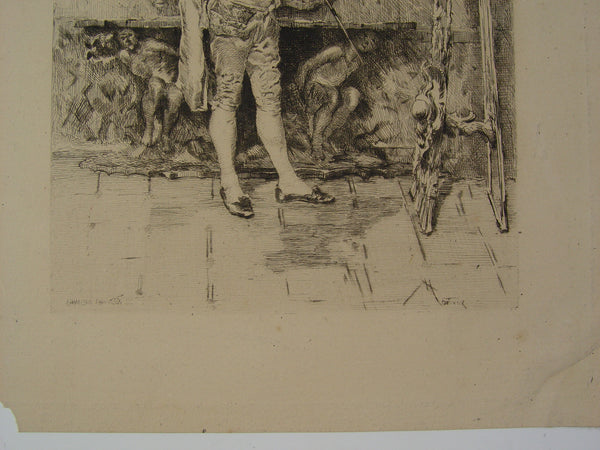 The Rare Vase After Mariano Fortuny, Etching