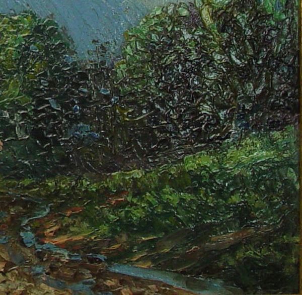 Mountain Stream Oil on Board