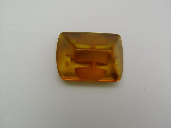 Vintage Apple Juice Bakelite Deco Coat or Jacket Button