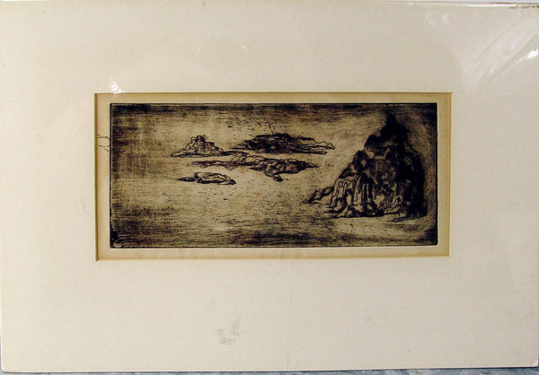 "Lorna Bath ""Islands"" Etching circa 1964"