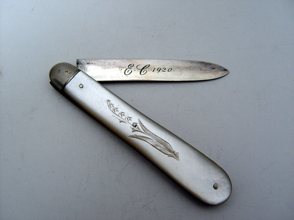Vintage Sterling & Mother of Pearl Fruit Knife