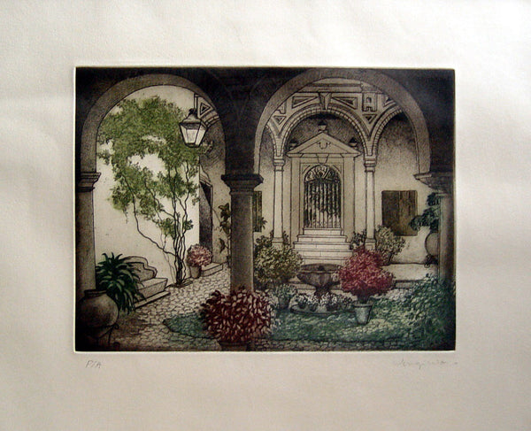 Courtyard Garden & Fountain - Artifax antiques & design