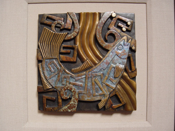 Bronze Salmon Tile by Tammy Garcia - Artifax antiques & design