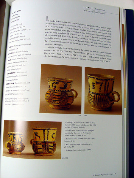 Longridge Collection of English Slipware and Delft