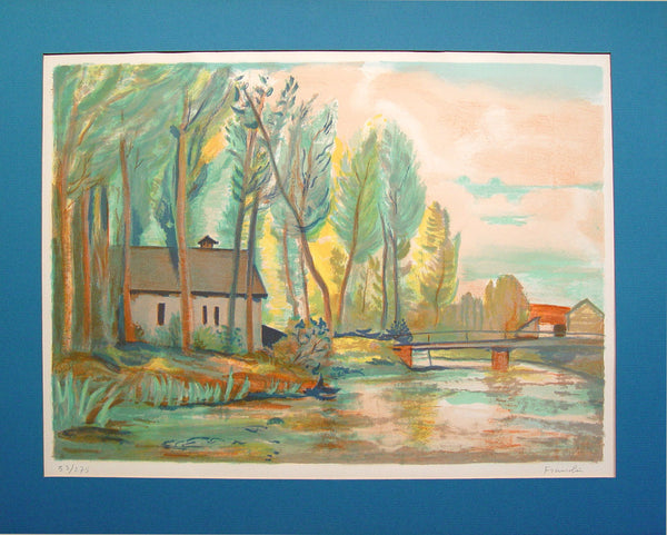 French River Scene by Robert Francolin