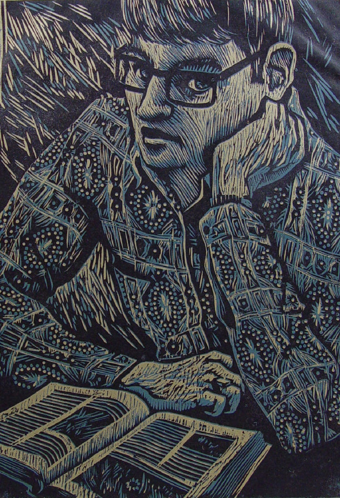 Kent Kobert Block Print Portrait