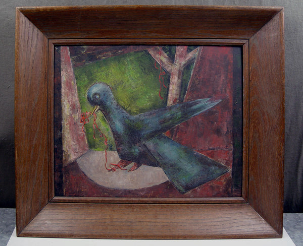 Abstract Bluebird by H. P. Rinehart - Artifax antiques & design