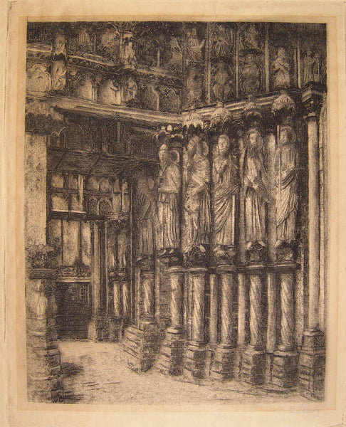 Cathedral Interior by W. Strang, Etching - Artifax antiques & design