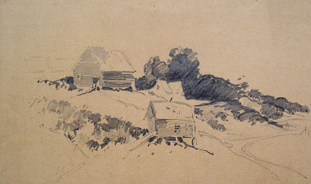 Pencil Study, Hillside Farm