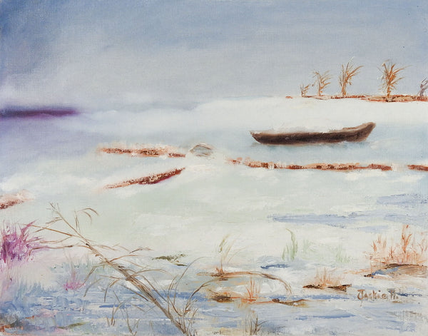 Winter Lake Painting