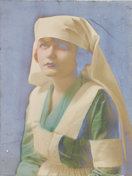 1919 Hand Colored Photograph Of Nurse