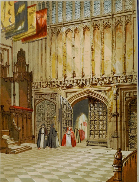 Henry IIV Chapel At Westminster Lithograph