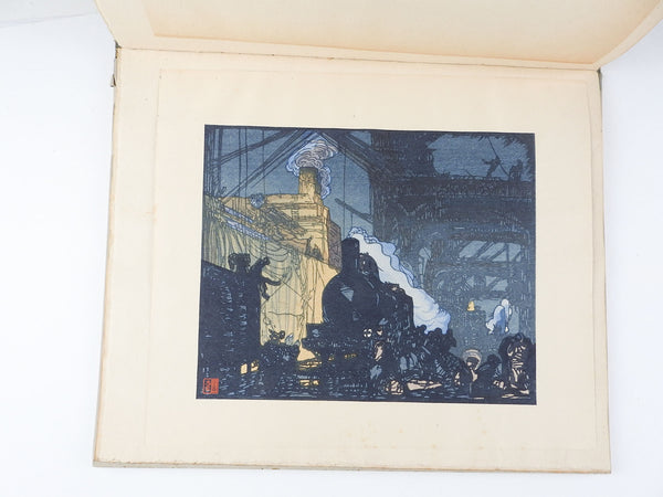 Urushibara Woodcut Prints Portfolio after Frank Brangwyn