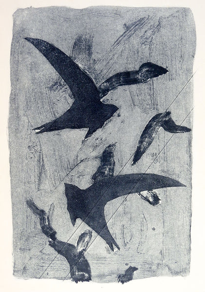 Abstract Birds Etching