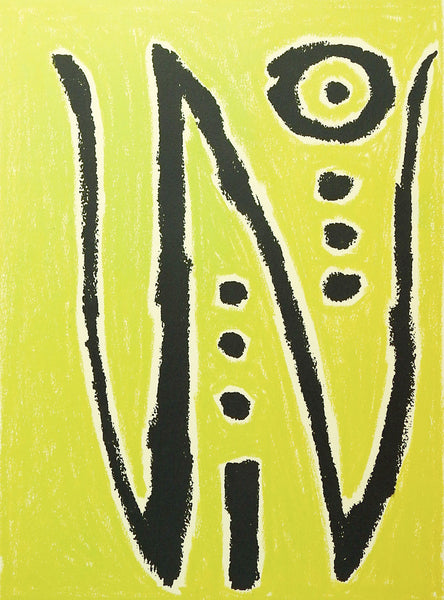 Lime Green Abstract Painting