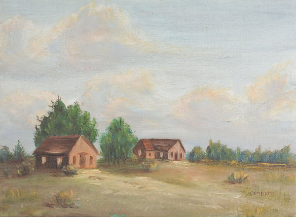 1950's Rustic Homestead Painting