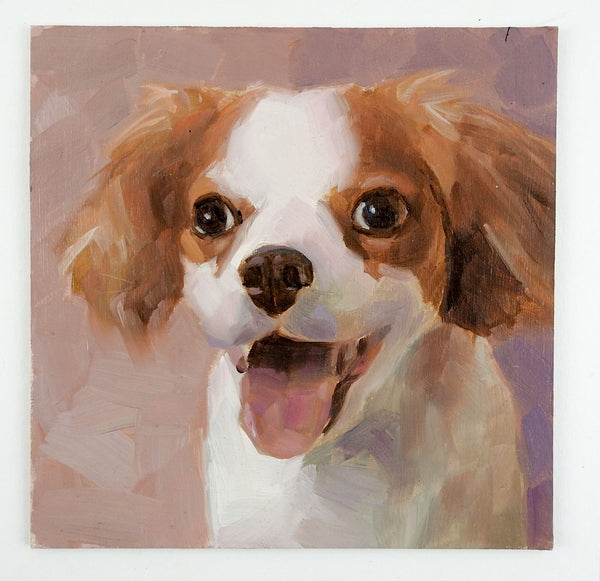 Portrait Painting of King Charles Spaniel Dog