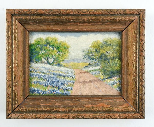 Small Texas Bluebonnets Landscape Painting