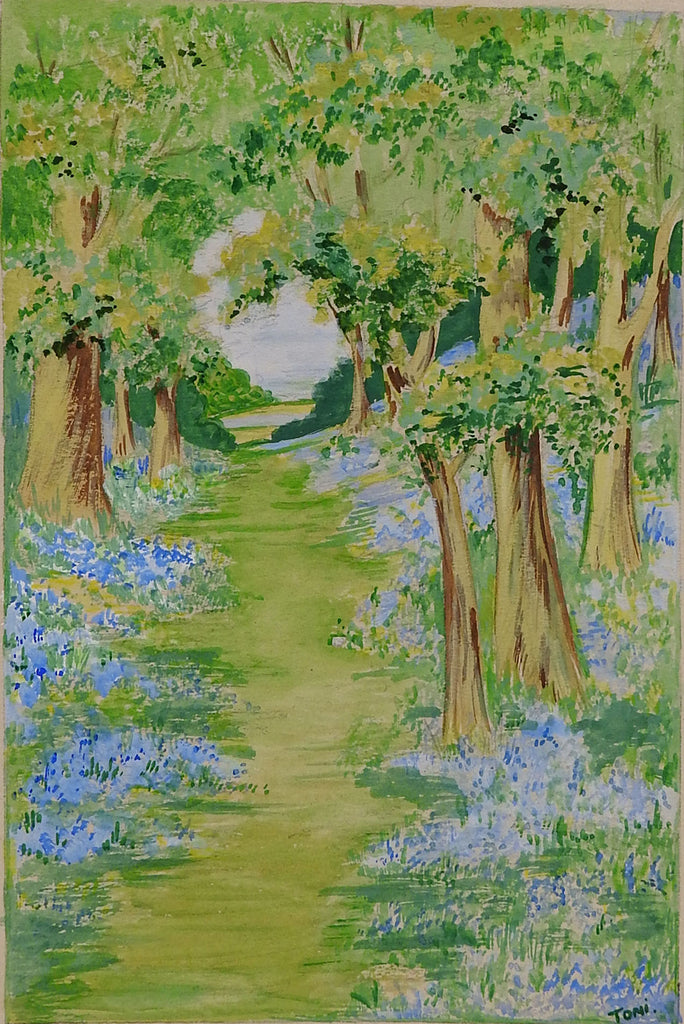 Forest Path Watercolor