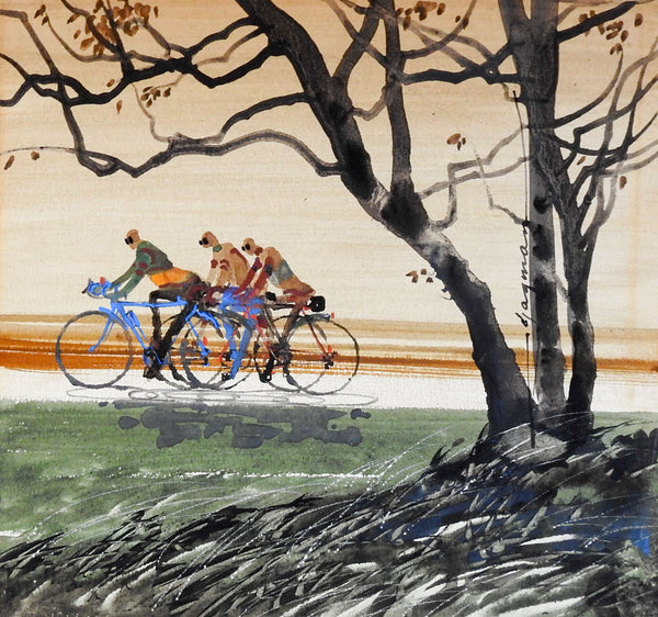 Edward Jagman Bicyclists Painting