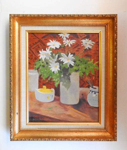 Daisies Still Life Painting By Lillian Boatwright