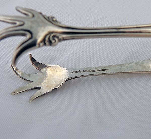 Reed & Barton Antique 1902 Sterling Sugar Tongs