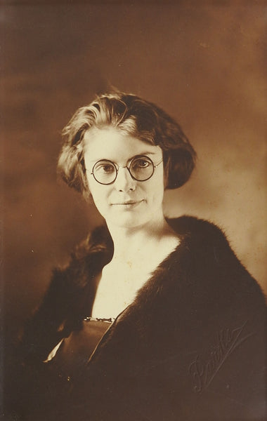 1920's Vintage Photograph of Pretty Girl In Glasses