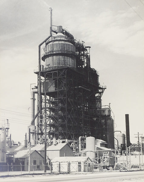1950's Photograph Of Cat Cracker Refinery