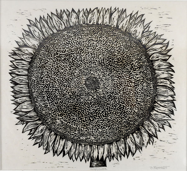 Bernard Rosenquit Sunflower Block  Print