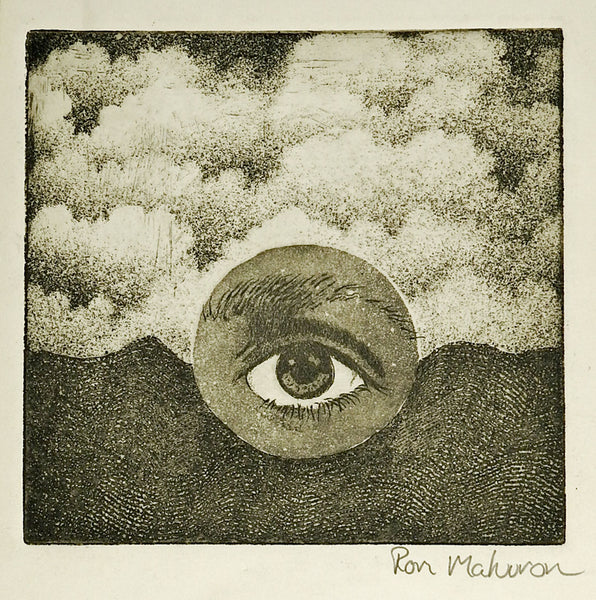 Surreal Eye & Mountain Etching