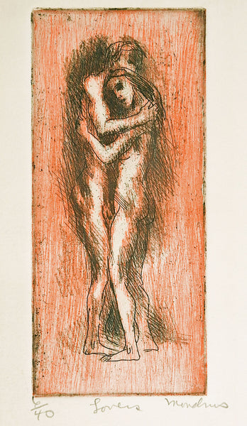 Lovers Etching By Martin Mondrus