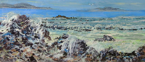 Rocky Coast Greece By Simon Michael Painting