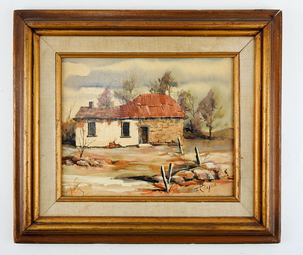 Rustic Adobe Farmhouse Painting
