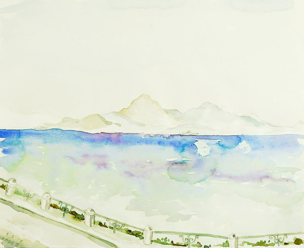 Island of Rhodes Greece Watercolor Study Painting