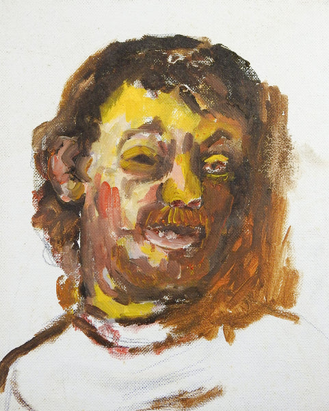 Study Portrait Of Man w/Mustache Painting