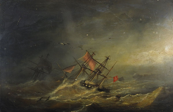19th Century Shipwreck Painting
