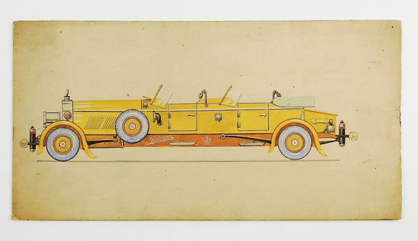 1920 Lexington Motors Concept Art Painting