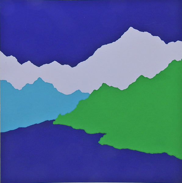 Color Block Mountains Serigraph