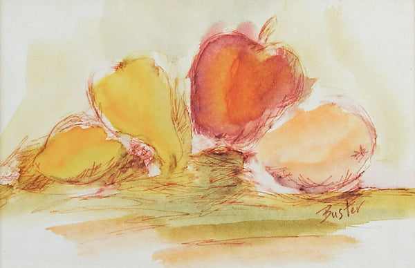 Apples & Pears Watercolor Painting