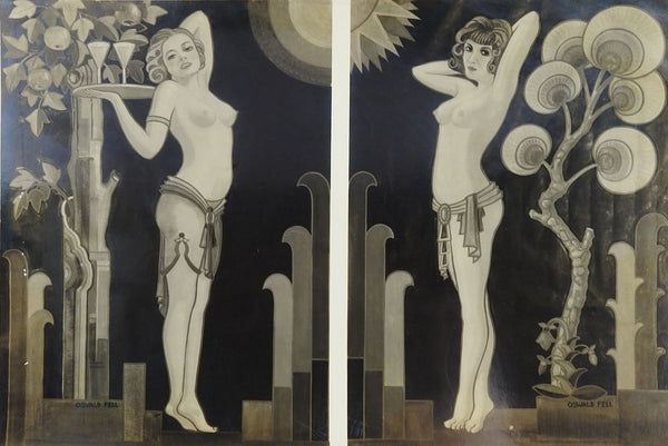Photograph Of Art Deco Mural