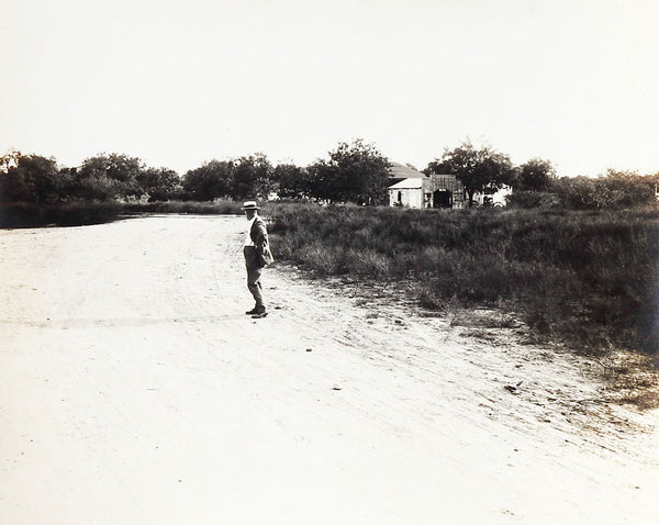 1919 Photograph Solitary Man By C. O. Lee San Antonio Texas