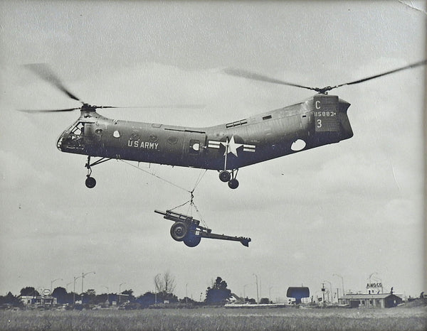 Piasecki H-21C Helicopter US Army Vietnam Era Photograph