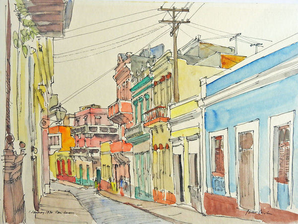 San Juan by Paul Parker Watercolor Painting